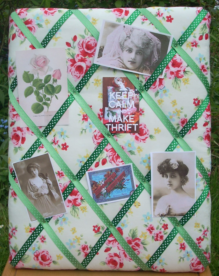 Vintage fabric pinboard